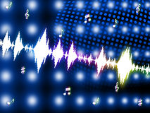 Sound Wave Shows Backgrounds Music And Soundtrack Stock Image