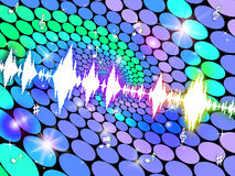 Sound Wave Shows Soundwaves Backgrounds And Graph Royalty Free Stock Image