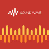 Sound wave sign. Logo sound wave icon radio, equalizer, music. Vector illustration design template for branding Stock Images