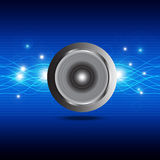 Sound wave from speaker Stock Image