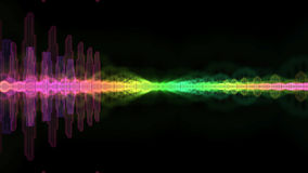 Equaliser Audio Sound Wave Spectrum Background. Sound Wave Spectrum Colored Shining Royalty Free Stock Images