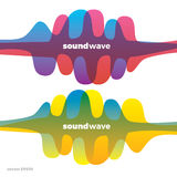 Sound wave symbol logo. Colorful gradient. Stock Photo
