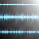Sound wave on Transparent background. EPS 10 Royalty Free Stock Image