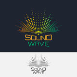 Sound wave. Vector logo design template. Abstract modern equalizer Stock Photo
