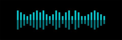 Sound wave. Voice recognition concept flat vector illustration of sound symbol. Bright voice and sound imitation lines. Eps10 royalty free illustration