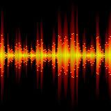 Sound waveform. Seamless vector illustration of a sound waveform Royalty Free Stock Photography