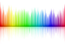 Sound waveform Stock Images