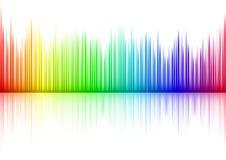 Sound waveform. Colorful Sound waveform (editable vector) on white Stock Images