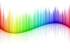 Sound waveform Royalty Free Stock Photos