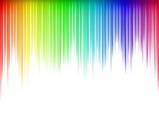 Sound waveform. Colorful Sound waveform (editable vector) on white Stock Image