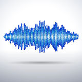 Sound waveform made of chaotic balls Stock Photo