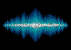 Sound waveform made of chaotic balls Stock Images