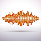 Sound waveform made of chaotic balls Royalty Free Stock Photos