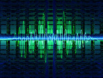 sound waves stock illustrationer