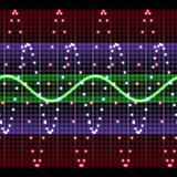 sound waves Arkivfoton