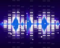 Sound waves. Set. Music background Royalty Free Stock Photos