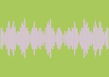 Sound waves bar illustration on green background Stock Photography