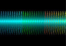 Sound waves on black background. vector illustration