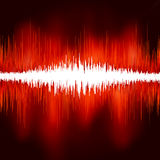 Sound waves on black background. EPS 8 Stock Photography