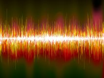 Sound waves on black background. EPS10 Stock Images