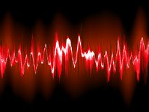 Sound waves on black background. EPS10 Stock Image