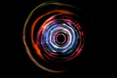 Sound waves in the dark. Sound waves in the visible red color in the dark Royalty Free Stock Image