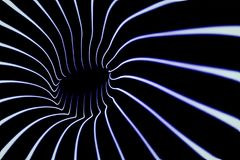 Sound waves in the dark. Tunnel of blue lines Stock Images