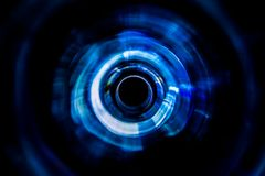 Sound waves in the dark. Sound waves in the visible blue color in the dark Stock Images