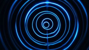 Sound waves in the dark. Sound waves in the visible blue color in the dark stock video footage