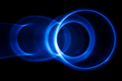 Sound waves in the dark. Sound waves in the visible blue color in the dark Royalty Free Stock Images
