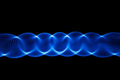 Sound waves in the dark Stock Photos