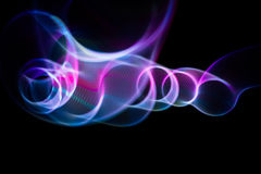 Sound waves in the dark. Sound waves in the visible blue color in the dark Royalty Free Stock Photo