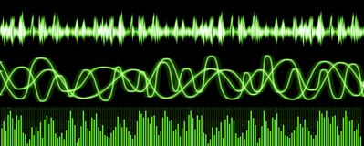 Sound Waves Equalizer Stock Images
