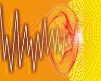 sound waves för öra Royaltyfria Bilder