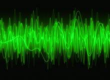 Sound waves för diagram Arkivbilder