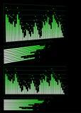 sound waves för utjämnare Royaltyfri Bild