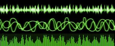 sound waves för utjämnare Arkivbilder