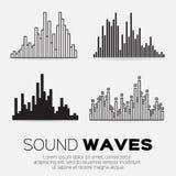sound waves för musik Arkivfoto