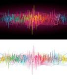 sound waves för neon Royaltyfri Fotografi