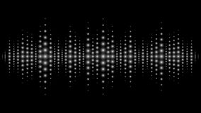 Sound waves light effect. Music digital equalizer Royalty Free Stock Photography