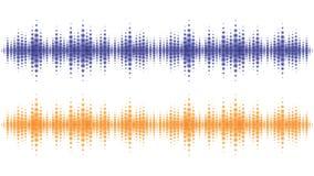 Sound waves light effect. Music digital equalizer Royalty Free Stock Image