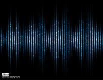 Sound waves. Music Digital Equalizer. Abstract light futuristic background. Stock Photography