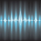 Sound waves oscillating royalty free stock photography