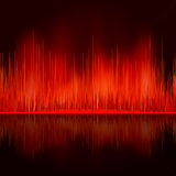 Sound waves oscillating on black background. EPS 8 Royalty Free Stock Photos
