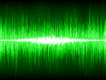 Sound waves oscillating on black background. EPS 8. Vector file included Stock Images