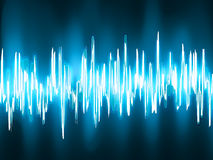 Sound waves oscillating on black. EPS 8 Stock Photos