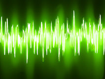 Sound waves oscillating on black background. EPS 8. Vector file included Stock Photography