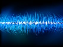 Sound waves oscillating on black.  Stock Photography