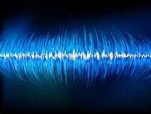 Sound waves oscillating on black.. Sound waves oscillating on black background. EPS 10 vector file included Stock Photography