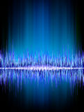 Sound waves oscillating on black.  Stock Photo